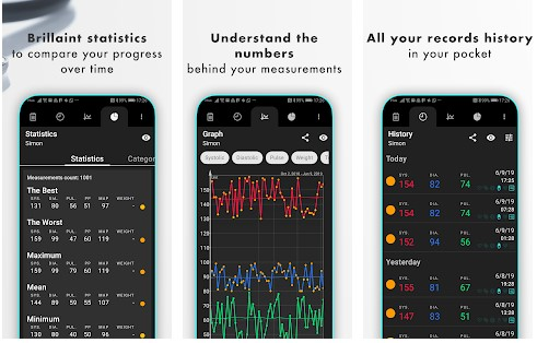 Blood pressure app for android phone